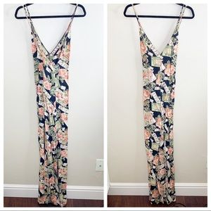 Reformation Africa Floral Palm Tree Maxi Dress